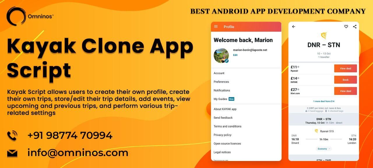 Kayak clone app